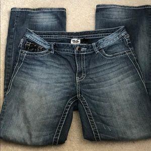 Harley Davidson MidRise Boot Cut Jeans Size 8